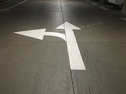 Directional Arrows in your parking lot in Mobile, Alabama